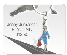 Jenny Jumpseat Key Chain